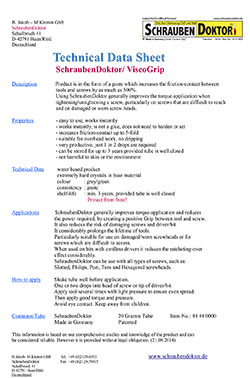 Technical Data Sheet SchraubenDoktor 26 09 2014 thumb